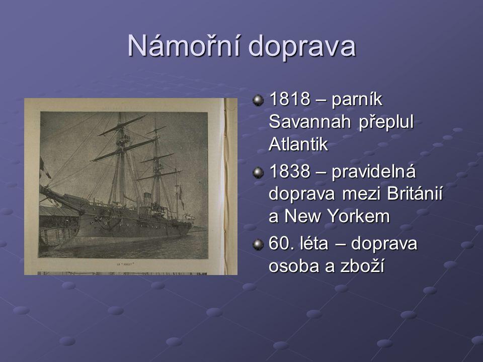 Námořní doprava 1818 – parník Savannah přeplul Atlantik