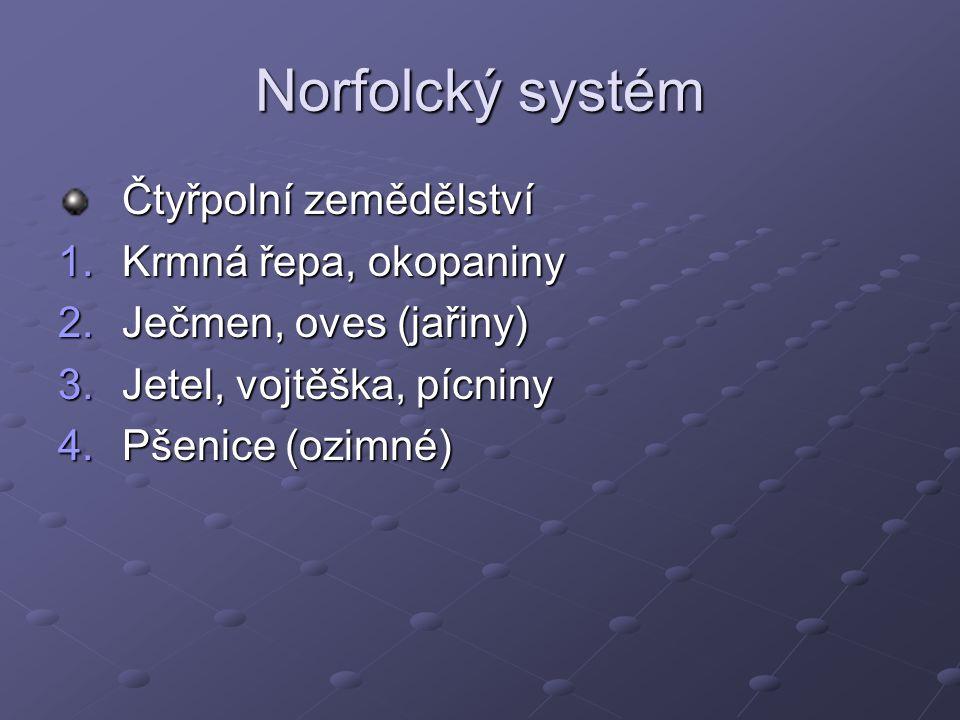 Norfolcký systém Čtyřpolní zemědělství Krmná řepa, okopaniny