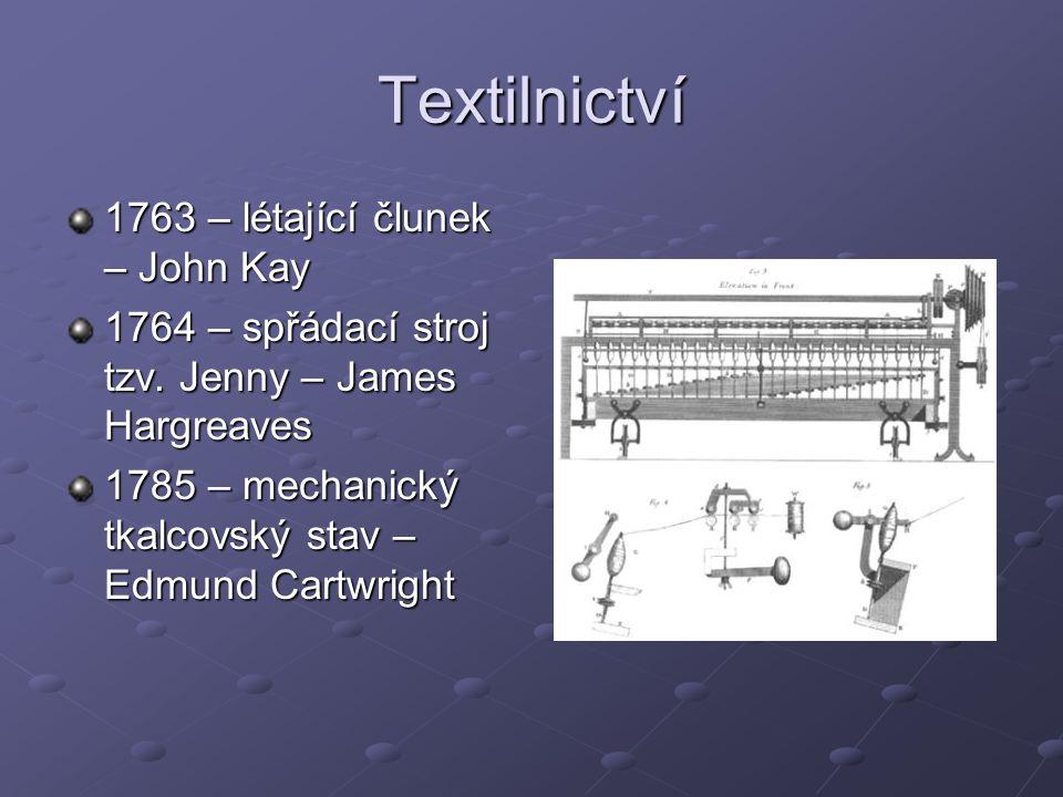 Textilnictví 1763 – létající člunek – John Kay