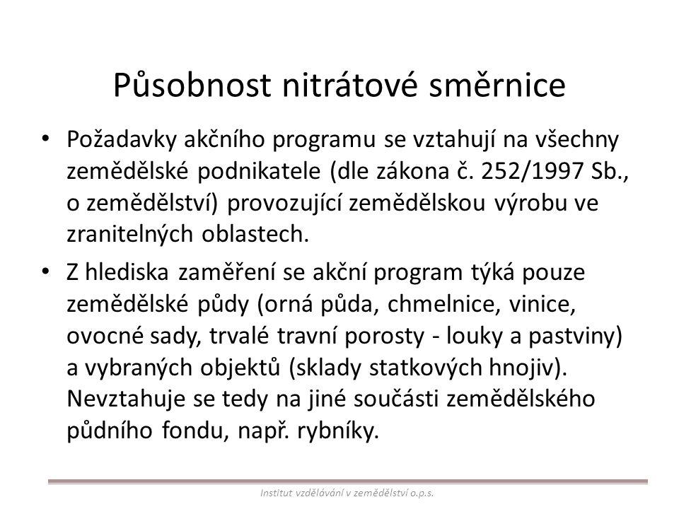 Působnost nitrátové směrnice