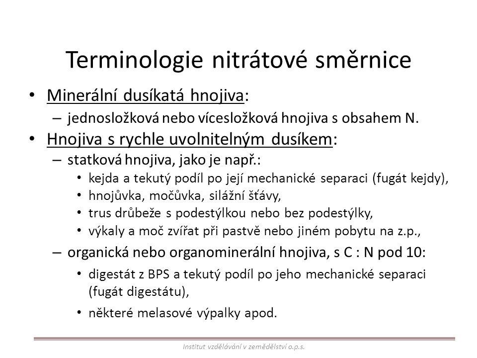 Terminologie nitrátové směrnice