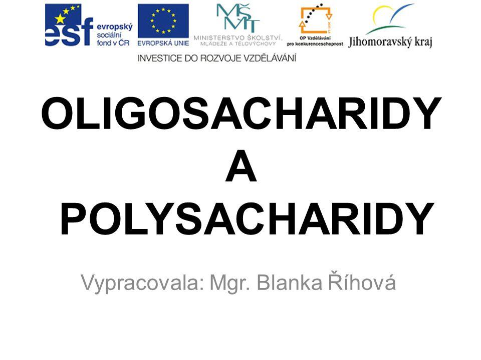 OLIGOSACHARIDY A POLYSACHARIDY