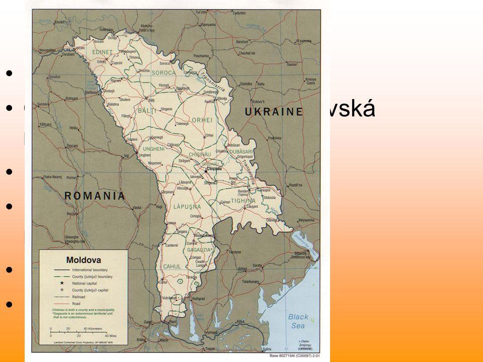 Poloha a rozloha Název země: Moldavsko