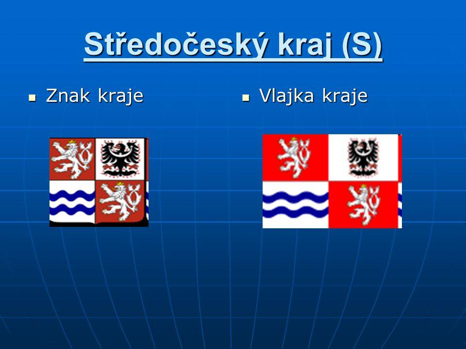 Středočeský kraj (S) Znak kraje Vlajka kraje