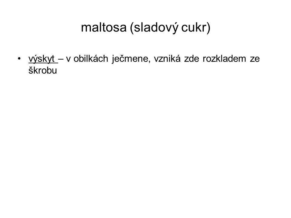 maltosa (sladový cukr)