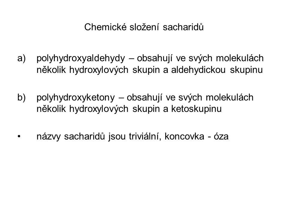 Chemické složení sacharidů