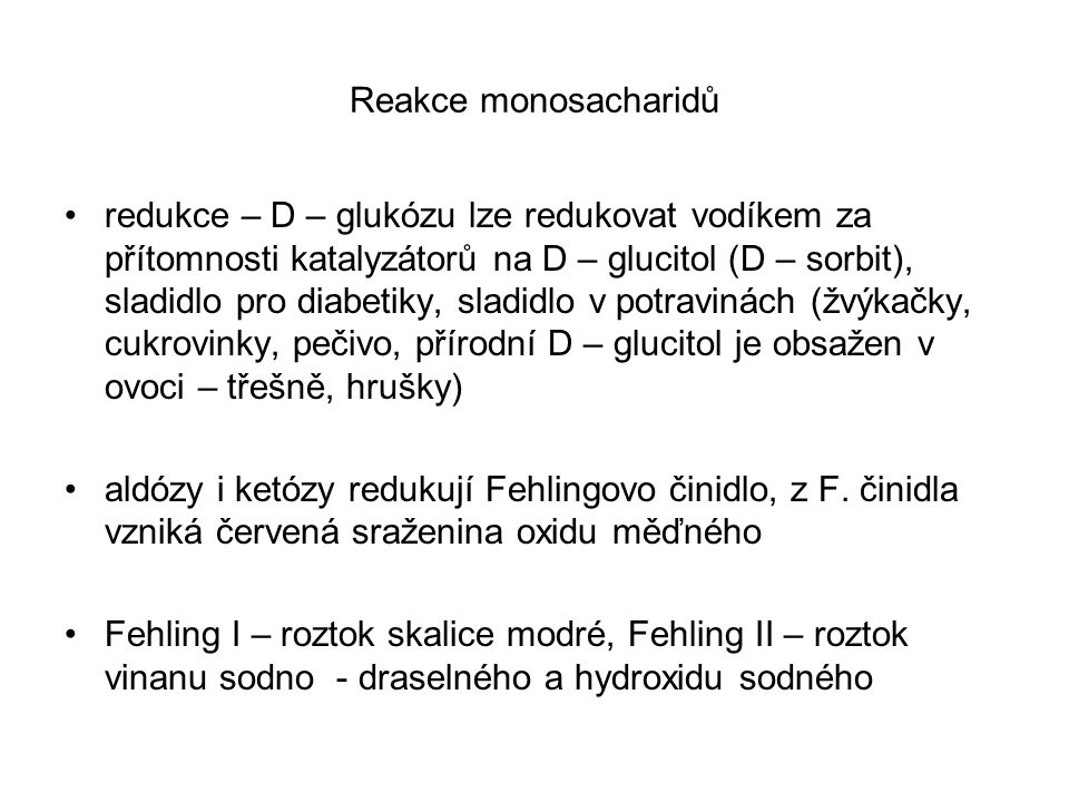Reakce monosacharidů