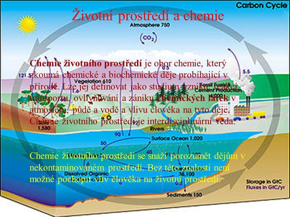 Životní prostředí a chemie