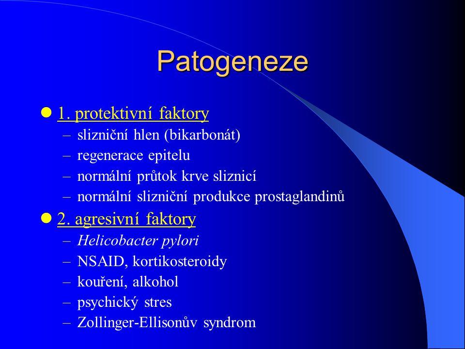 Patogeneze 1. protektivní faktory 2. agresivní faktory