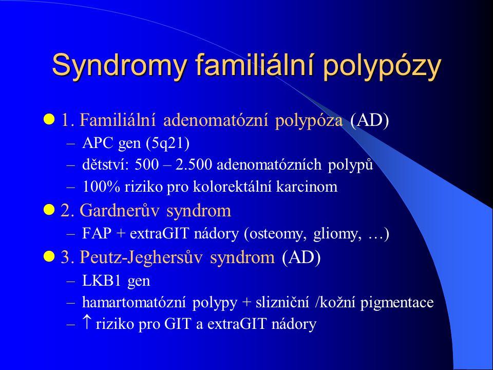 Syndromy familiální polypózy