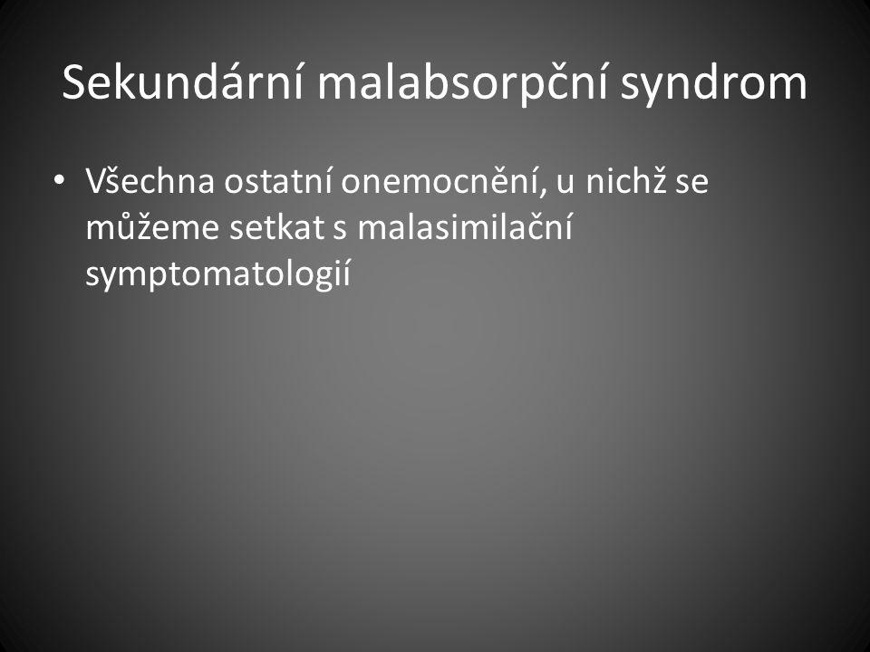 Sekundární malabsorpční syndrom