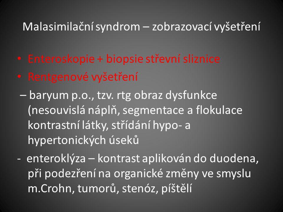 Malasimilační syndrom – zobrazovací vyšetření