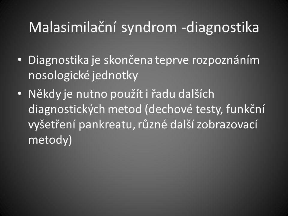 Malasimilační syndrom -diagnostika