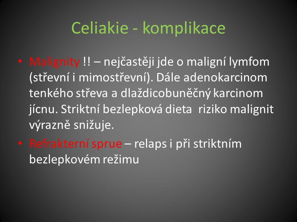Celiakie - komplikace
