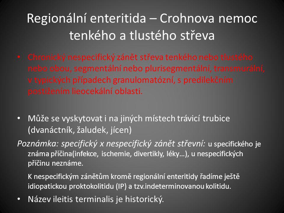 Regionální enteritida – Crohnova nemoc tenkého a tlustého střeva