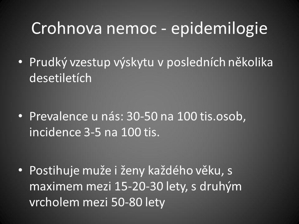 Crohnova nemoc - epidemilogie