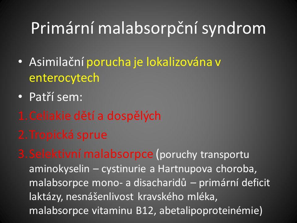 Primární malabsorpční syndrom