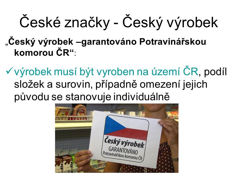 České značky - Český výrobek