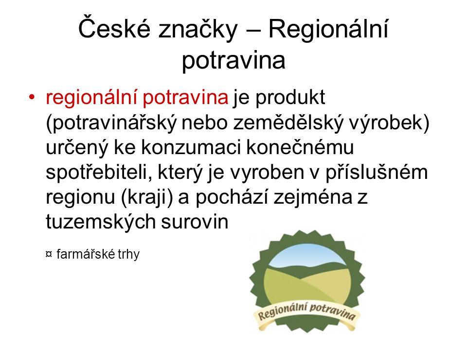 České značky – Regionální potravina