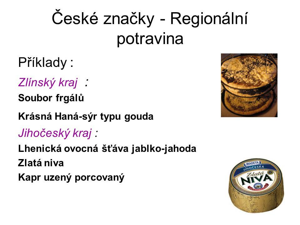 České značky - Regionální potravina