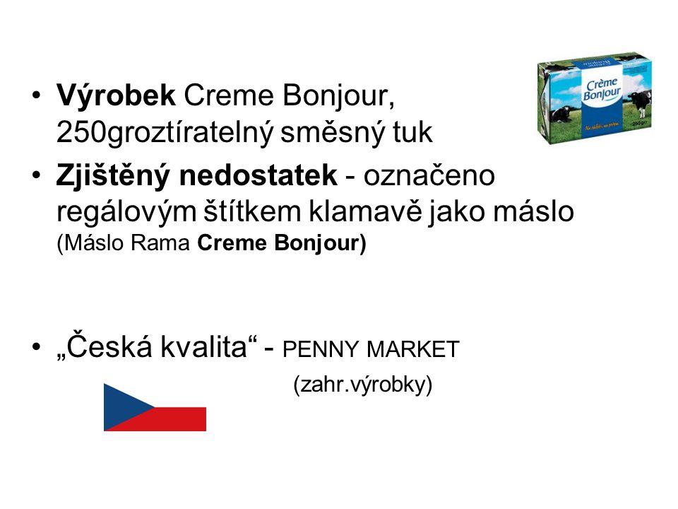 Výrobek Creme Bonjour, 250groztíratelný směsný tuk