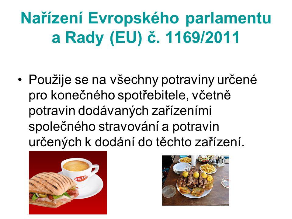 Nařízení Evropského parlamentu a Rady (EU) č. 1169/2011