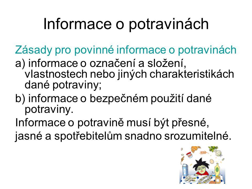 Informace o potravinách