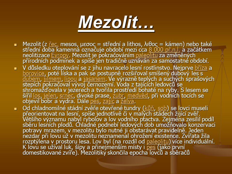 Mezolit…
