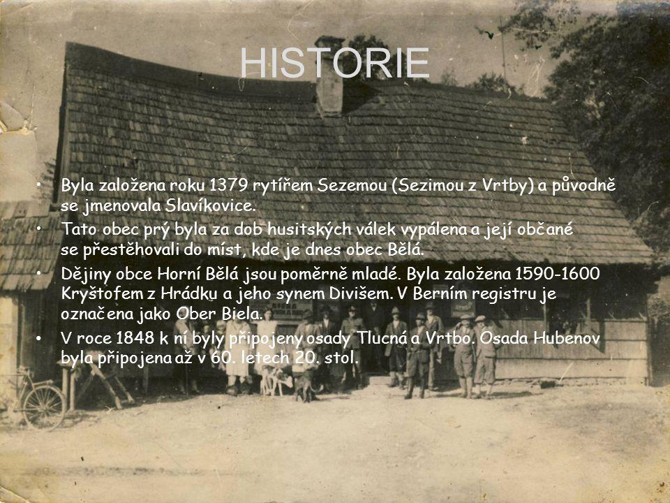 HISTORIE Byla založena roku 1379 rytířem Sezemou (Sezimou z Vrtby) a původně se jmenovala Slavíkovice.