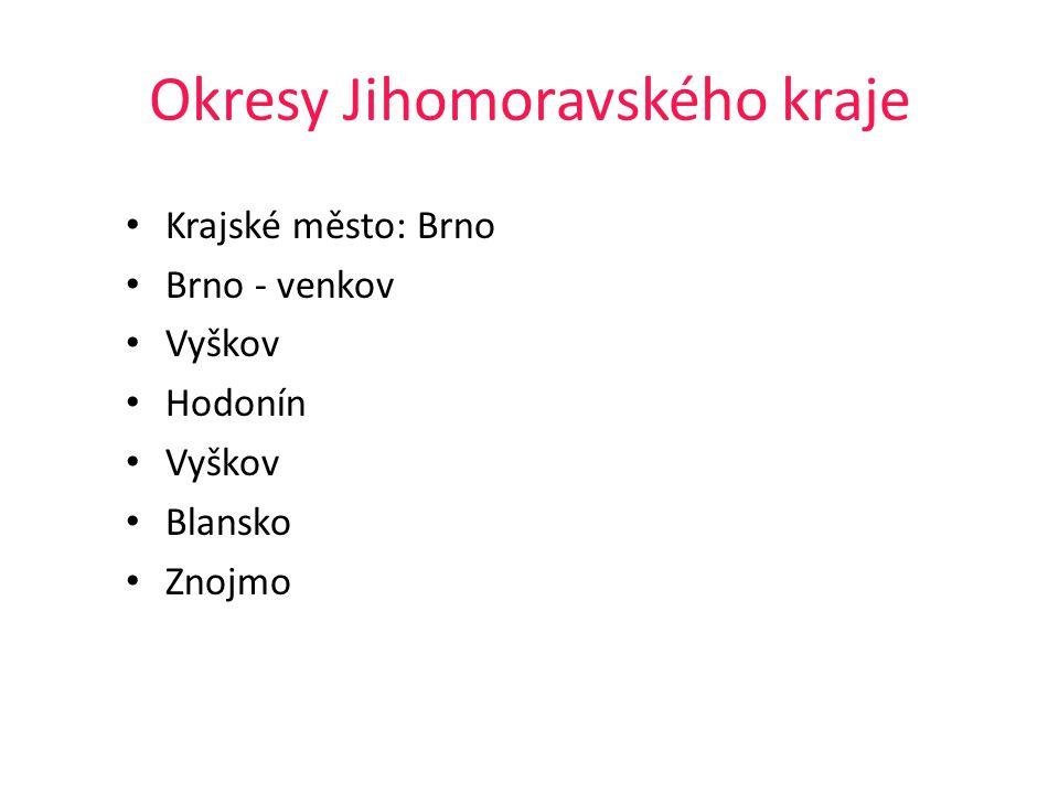 Okresy Jihomoravského kraje