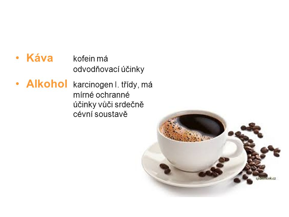 Káva kofein má odvodňovací účinky