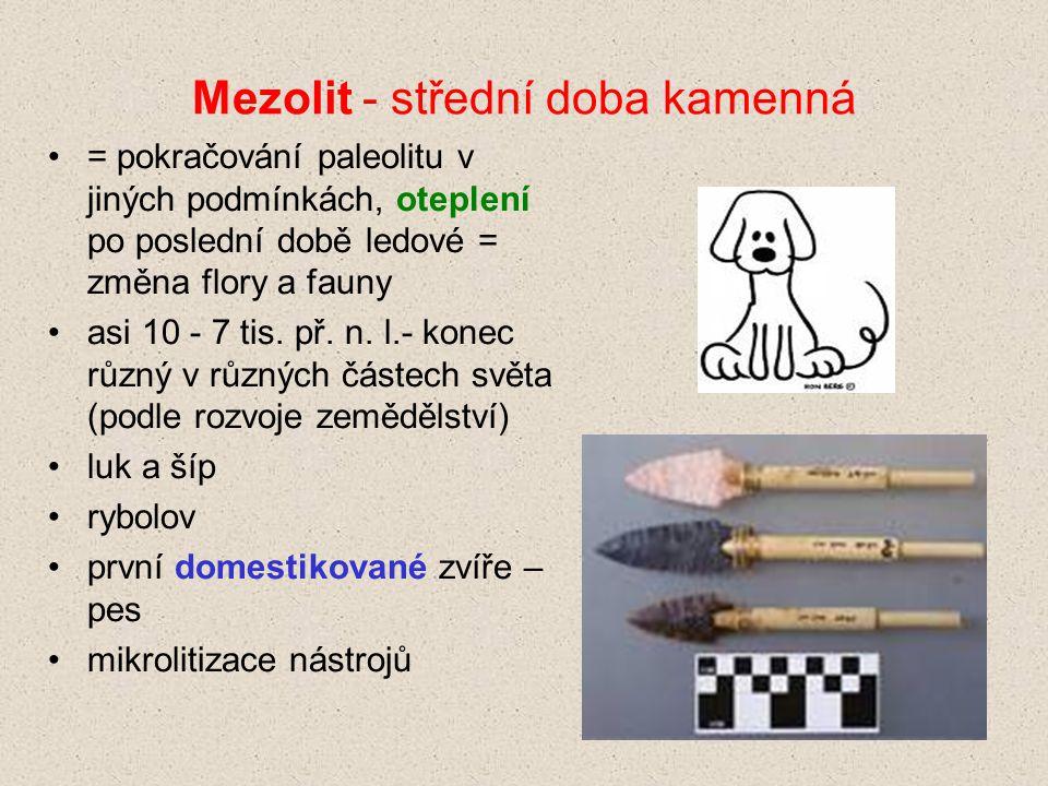 Mezolit - střední doba kamenná