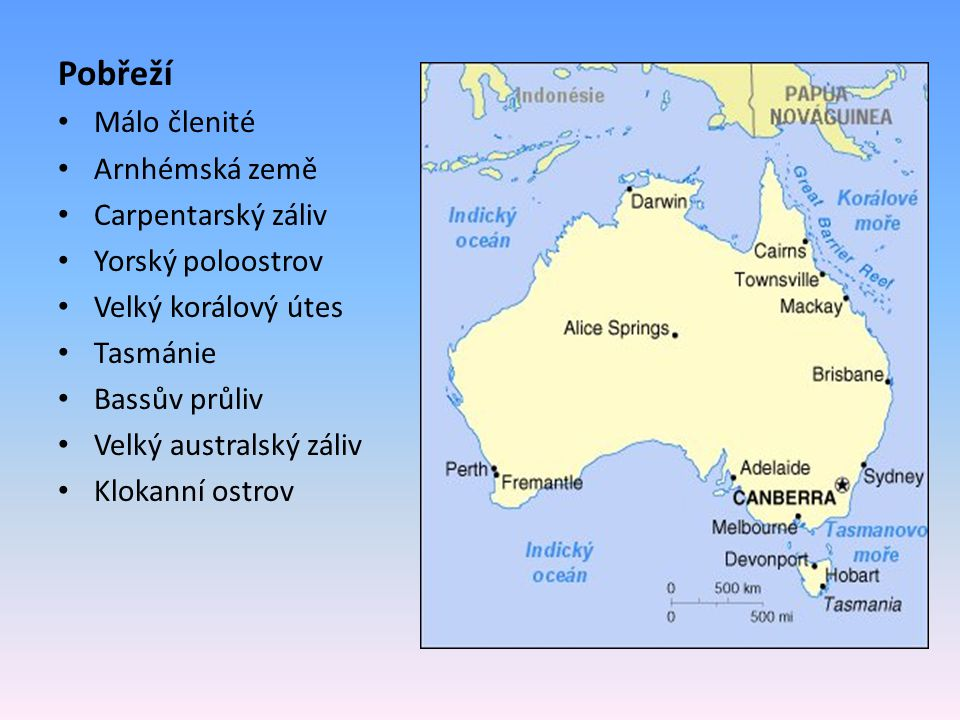 Pobřeží Málo členité Arnhémská země Carpentarský záliv