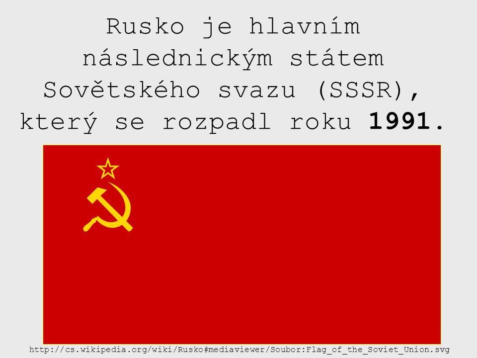 Rusko je hlavním následnickým státem Sovětského svazu (SSSR), který se rozpadl roku 1991.