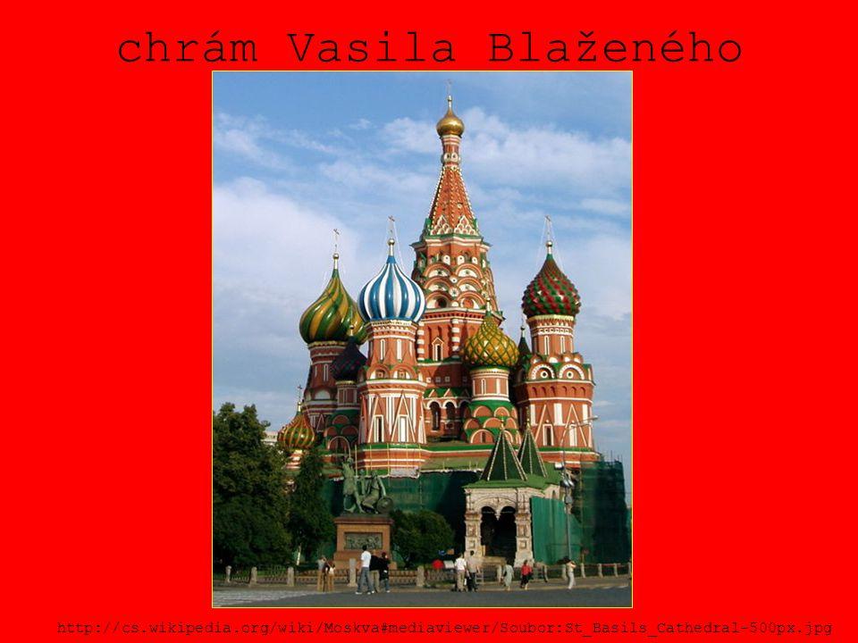 chrám Vasila Blaženého