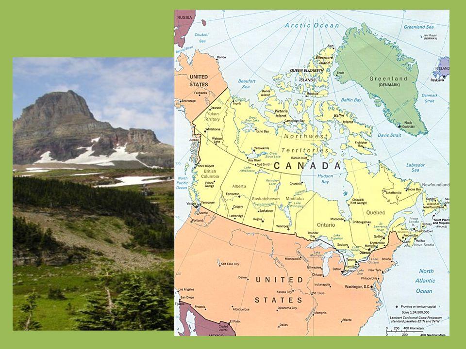 Poloha: Kanadu najdeme na severní části Severní Ameriky.