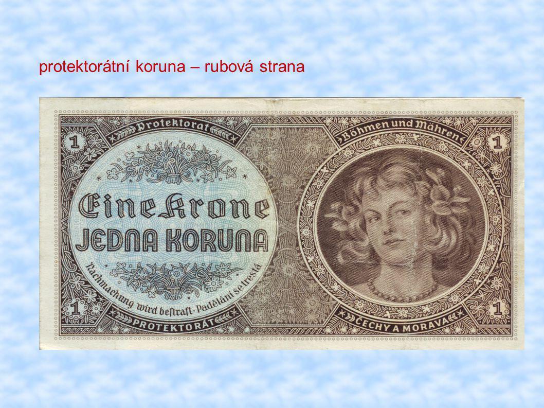 protektorátní koruna – rubová strana
