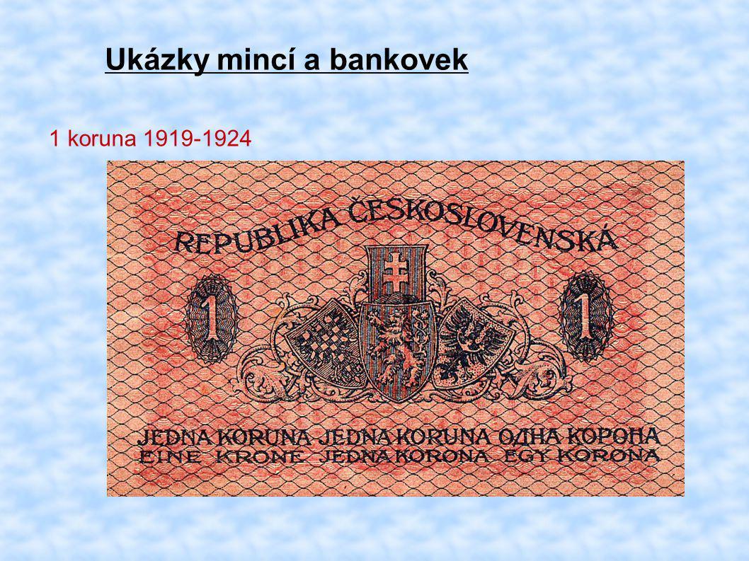 Ukázky mincí a bankovek