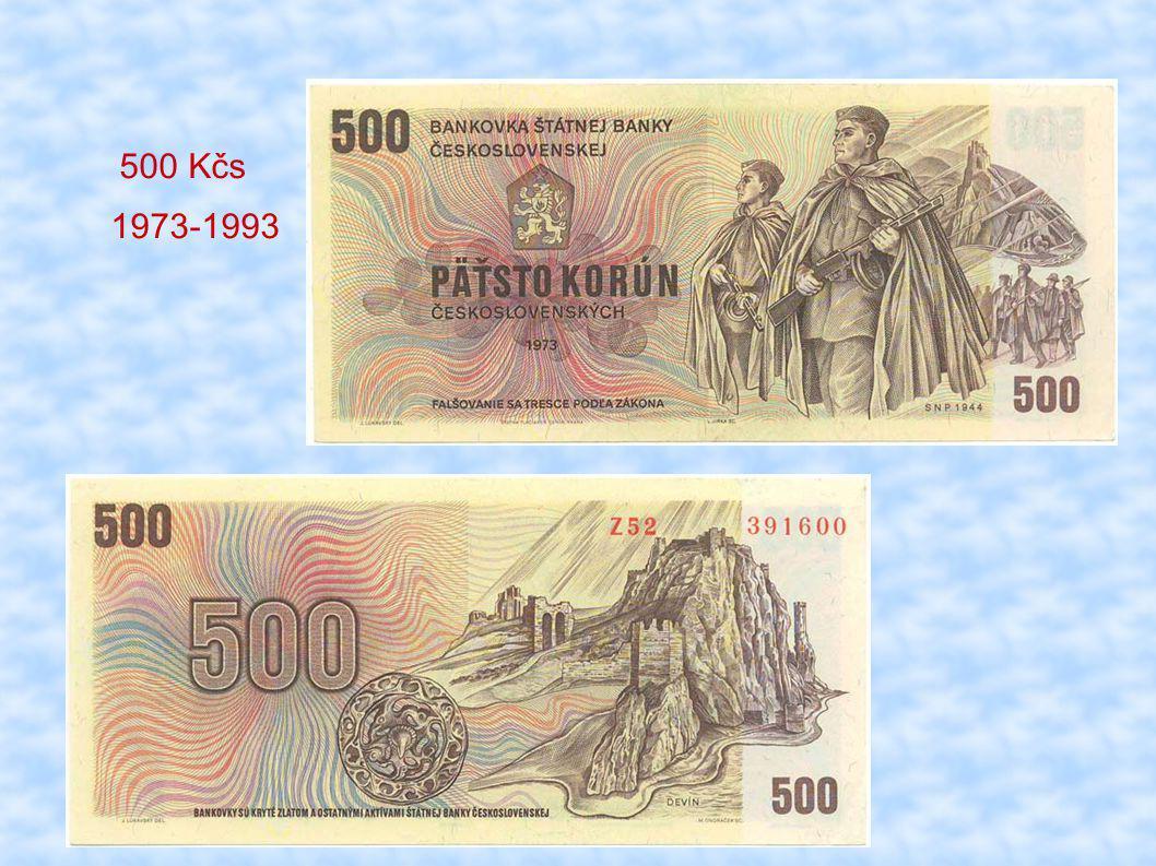 500 Kčs 1973-1993