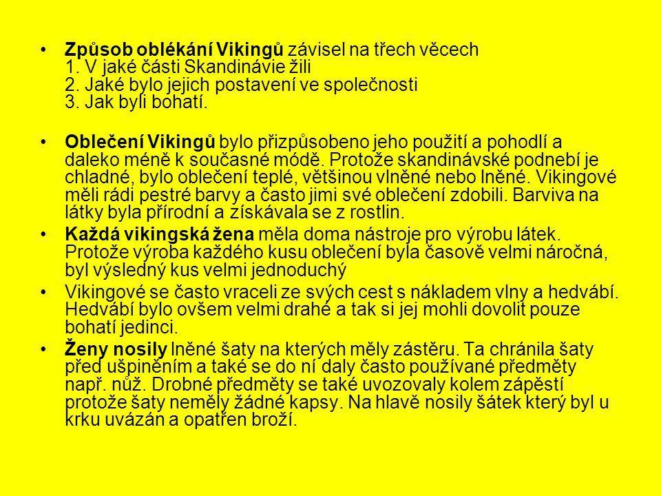 Způsob oblékání Vikingů závisel na třech věcech 1