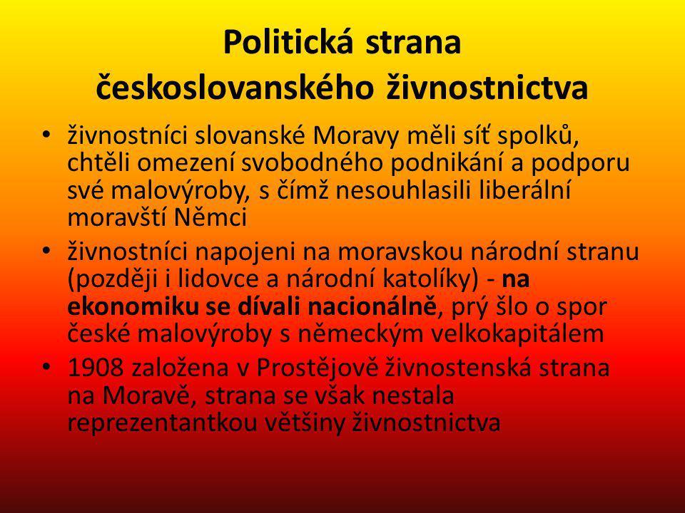 Politická strana českoslovanského živnostnictva