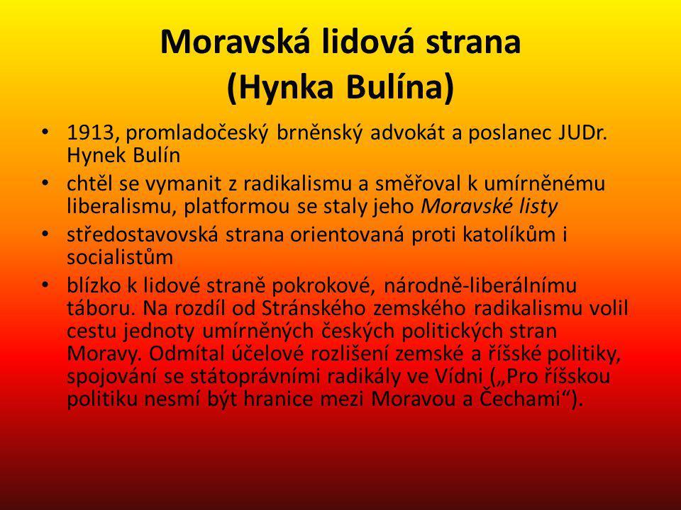 Moravská lidová strana (Hynka Bulína)