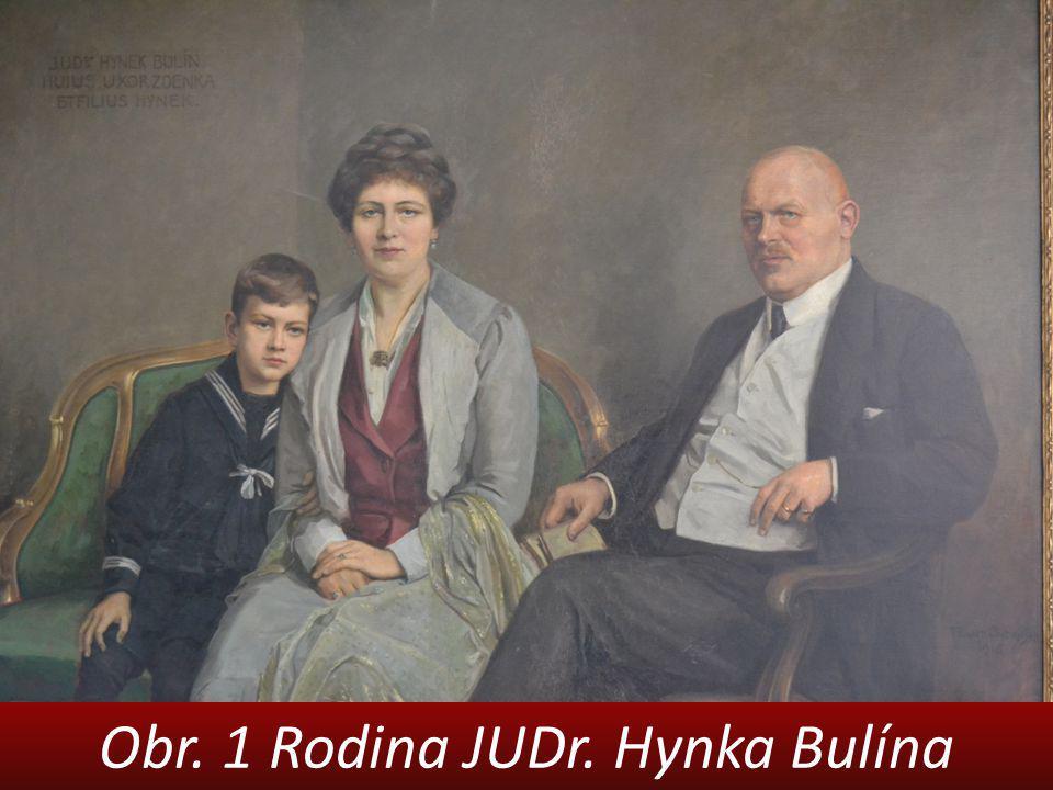 Obr. 1 Rodina JUDr. Hynka Bulína