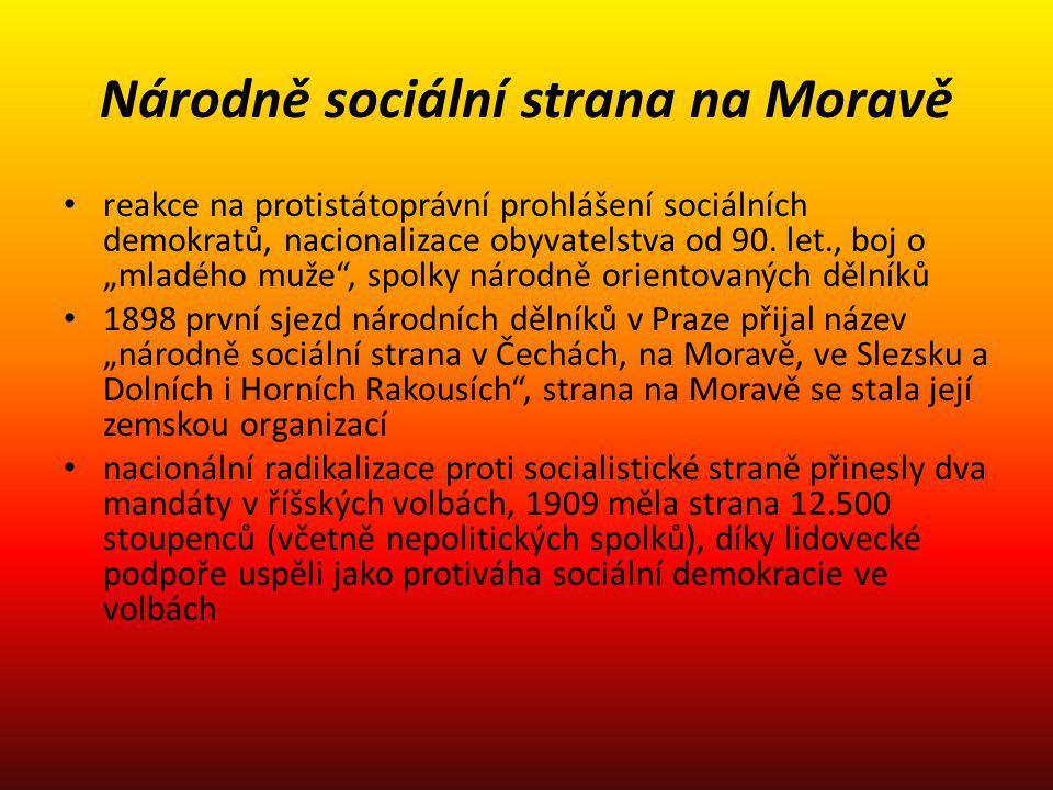 Národně sociální strana na Moravě