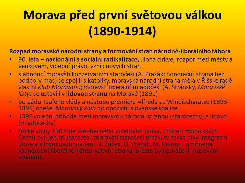 Morava před první světovou válkou (1890-1914)