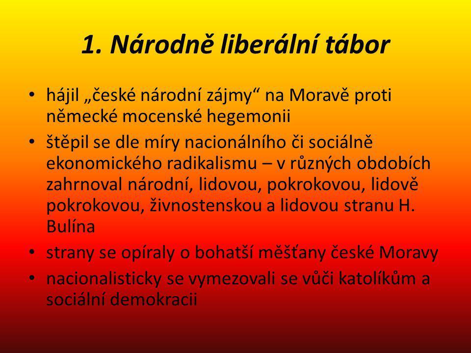 1. Národně liberální tábor