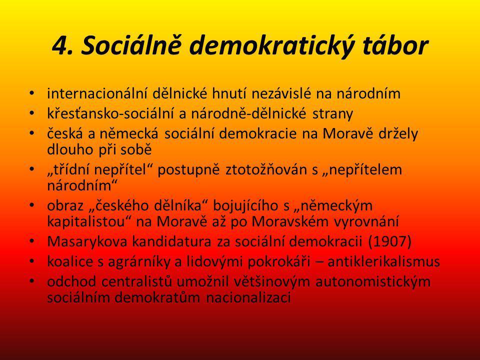 4. Sociálně demokratický tábor