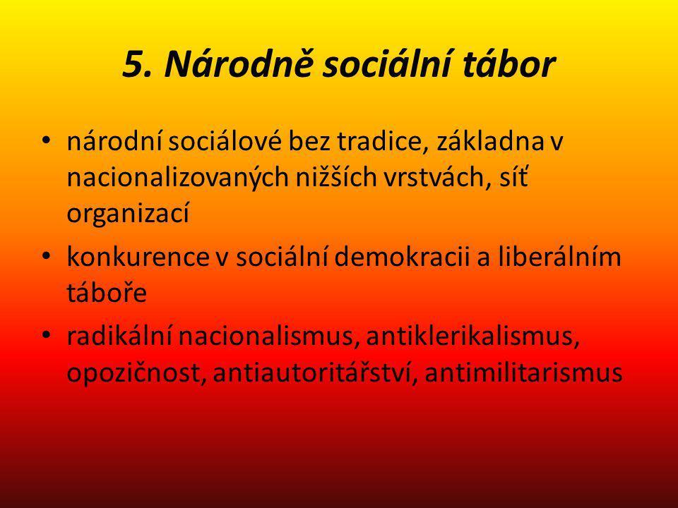 5. Národně sociální tábor