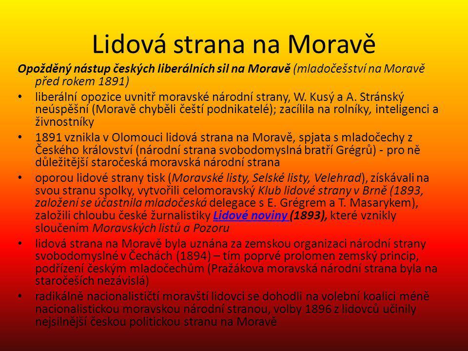 Lidová strana na Moravě