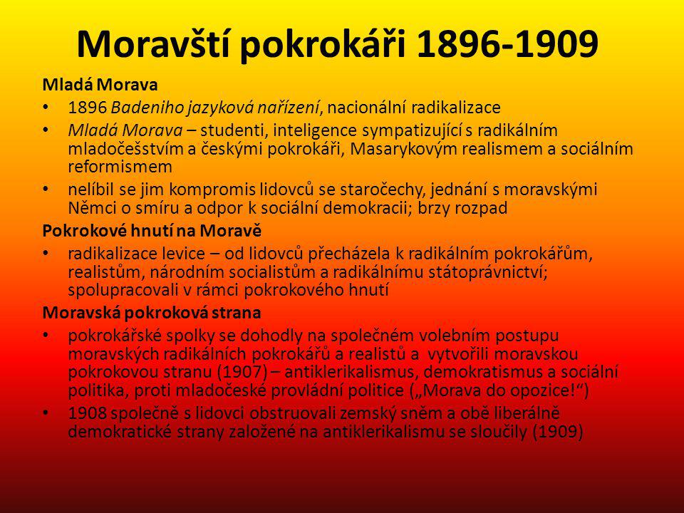 Moravští pokrokáři 1896-1909 Mladá Morava